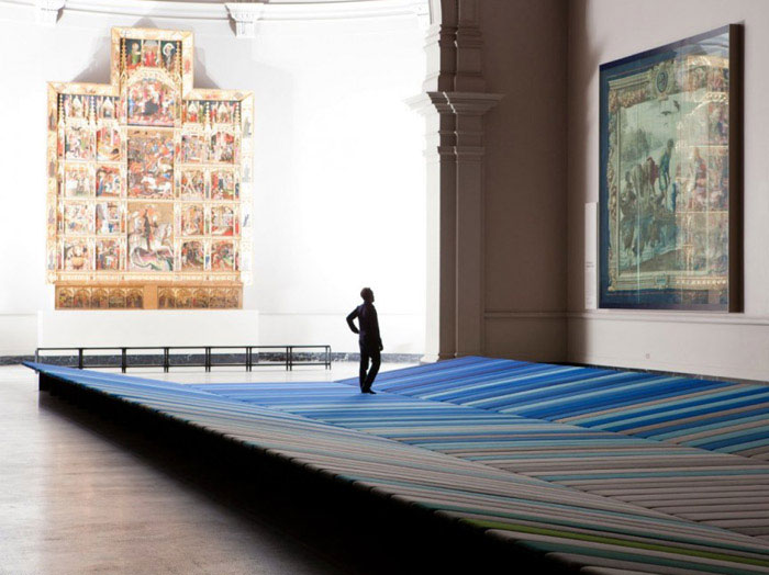 textile field installation by ronan and erwan bouroullec5