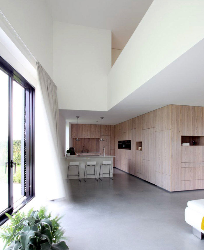 house made of aluminum interior kitchen