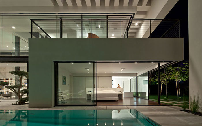 contemporary private residence pool area