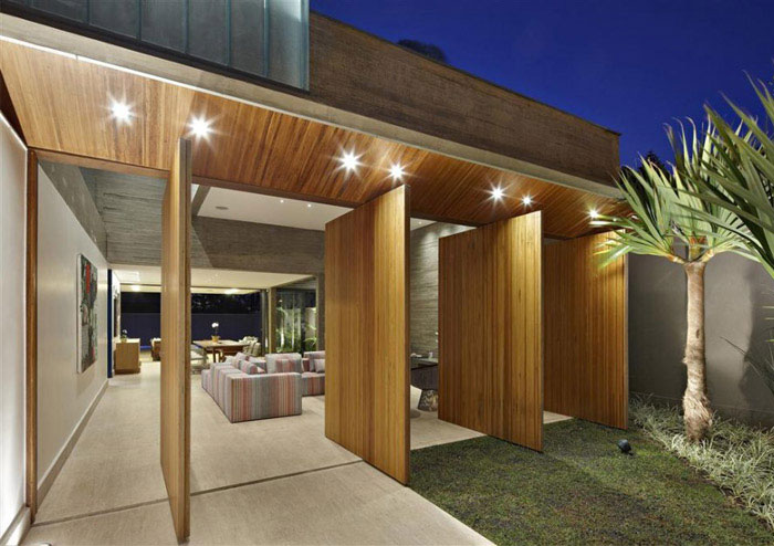 stylish house brazil outdoor
