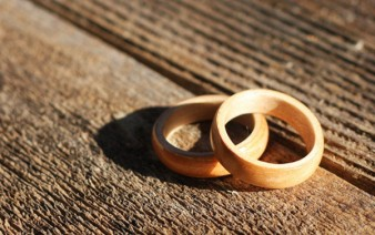bent wood rings wedding pair maple maple 338x212
