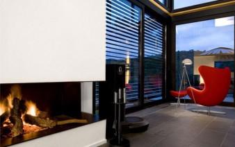 contemporary residence spain interior fireplace 338x212
