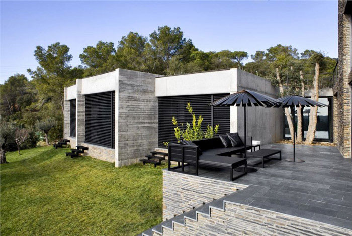 contemporary residence spain