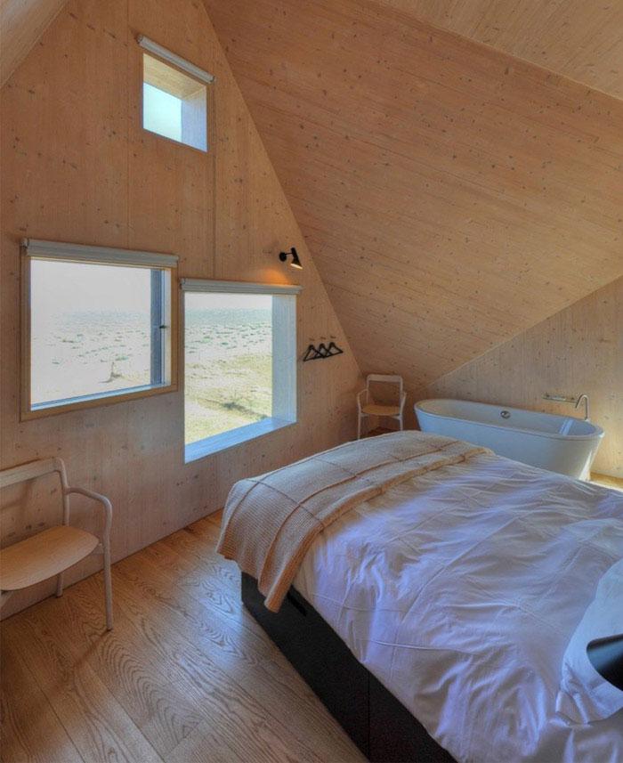 levitating house interior bedroom
