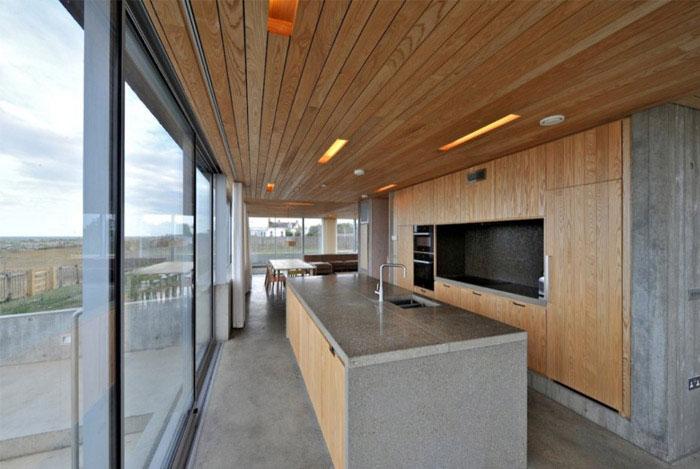 levitating house interior kitchen