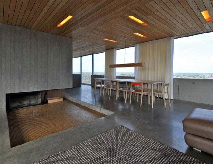 levitating house interior living area