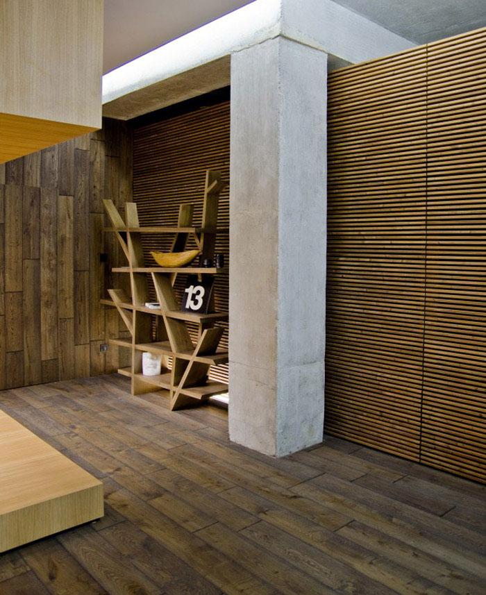 loft apartment warm concrete living area2