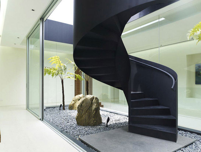 steel staircase interior
