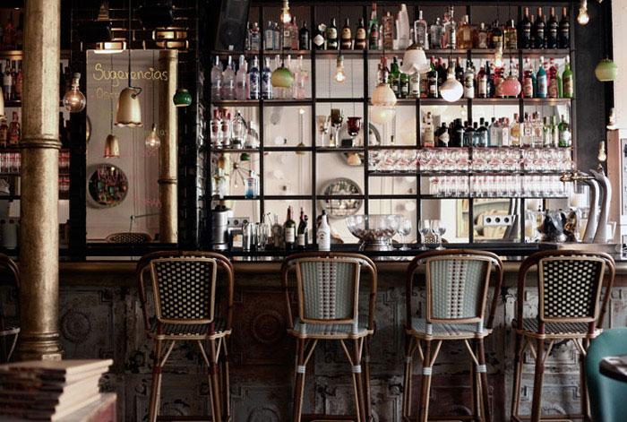 bohemian cafe bar interior