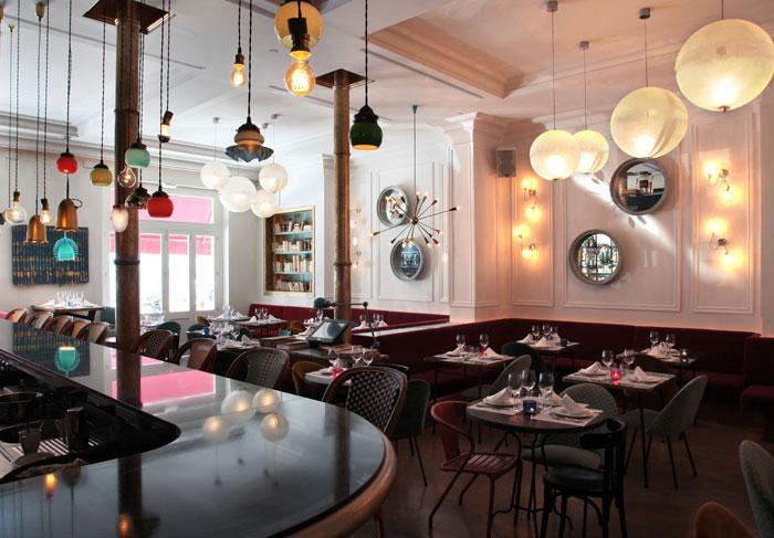 bohemian cafe table decor