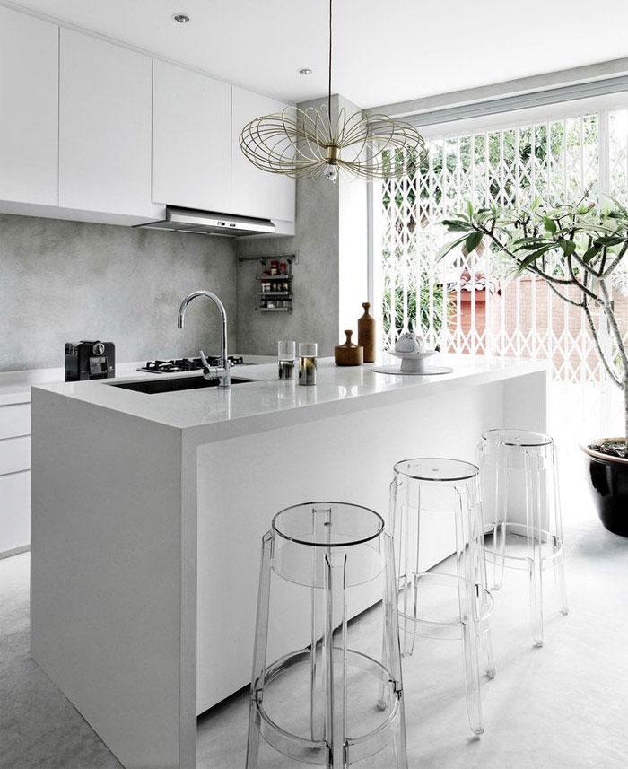 building shophouse modern white kitchen