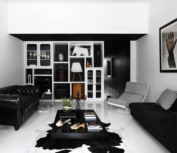 building shophouse white living room
