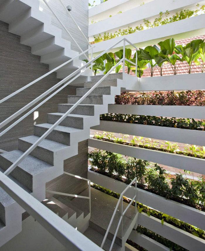 concrete planters interior house