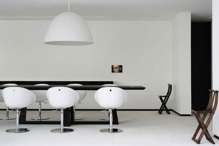 contemporary brazilian house interior dining table