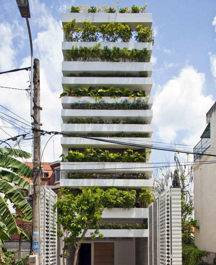 tube house outdoor greenery