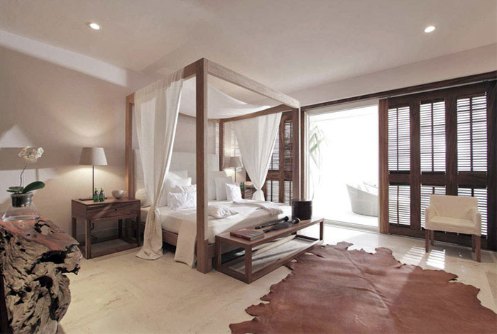 contemporary mexican style house bedroom interior
