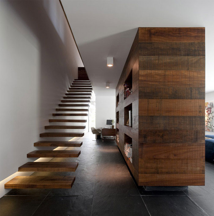 remodeling urban house interior staircase