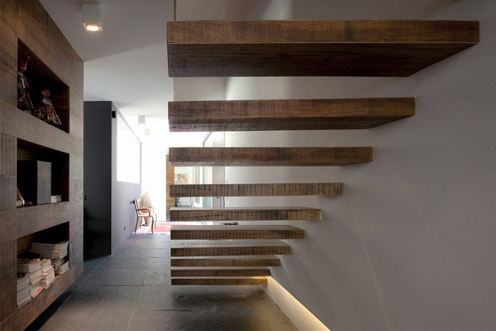 urban house interior staircase