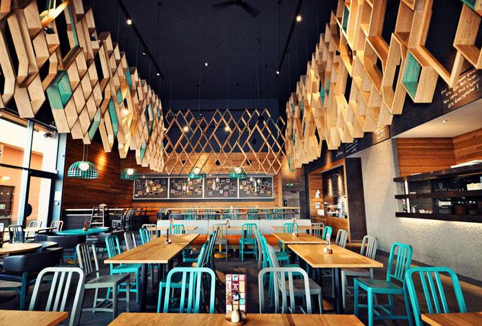 restaurant style concept wood decor
