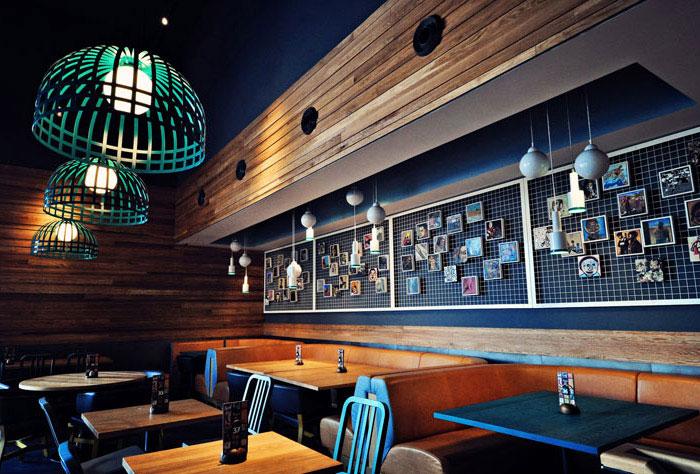 restaurant style concept wood interior decor