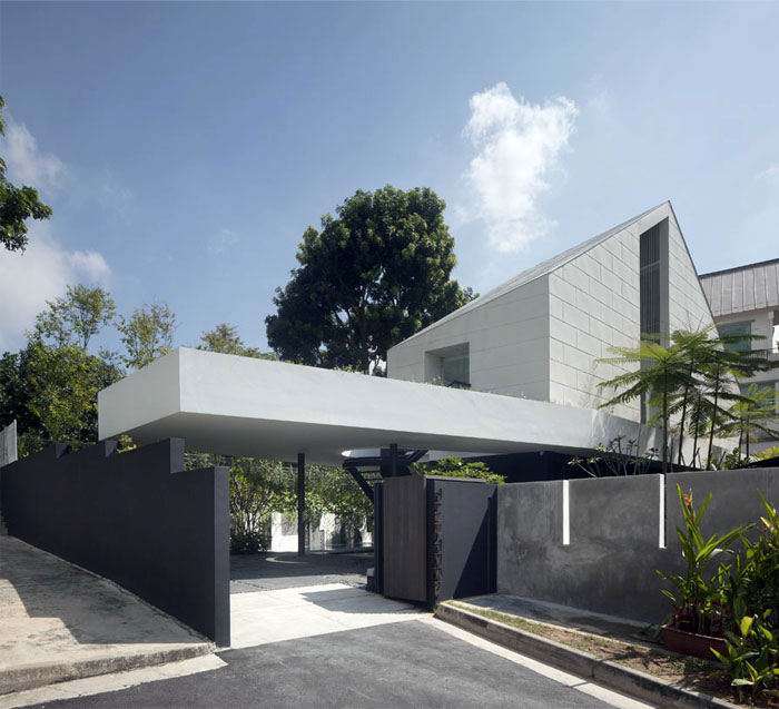 stylish house singapore outdoor