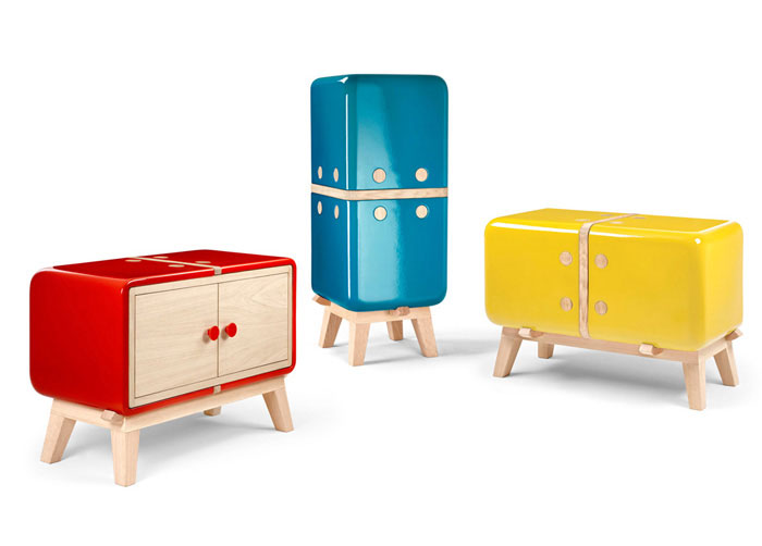 cabinets made from glazed ceramic wood