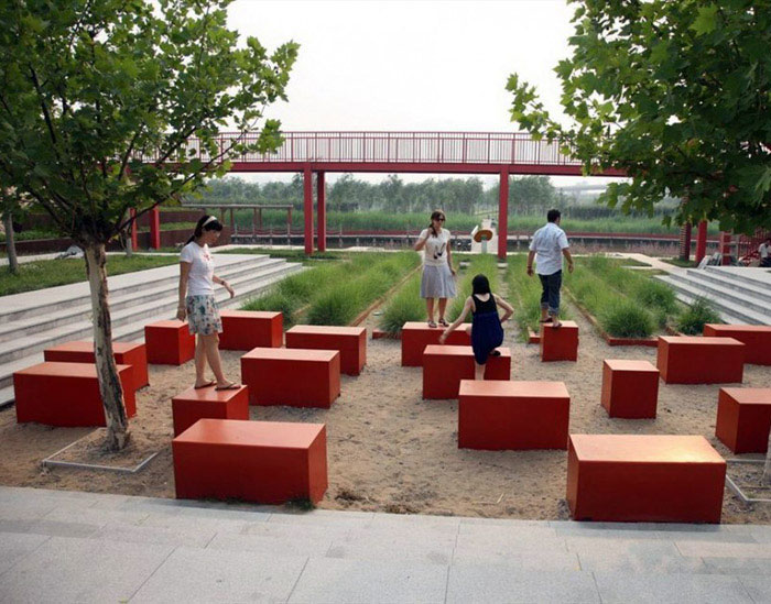urban park outdoor decor