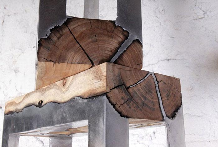 furniture cast aluminium wood