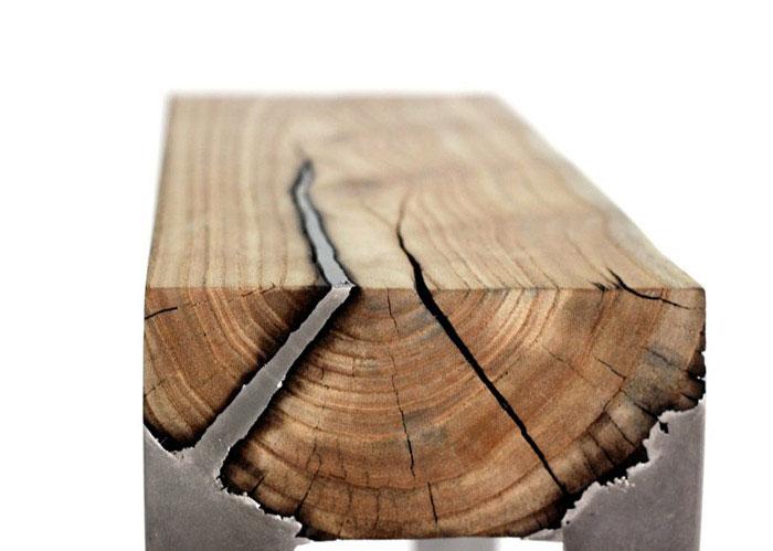furniture cast aluminium wood2