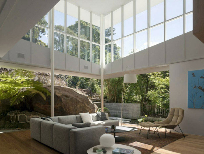 rock house living room interior