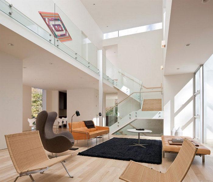 contemporary residence living room interior