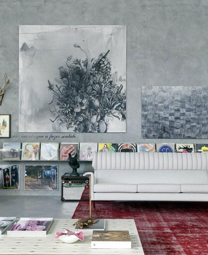 eclectic art decor