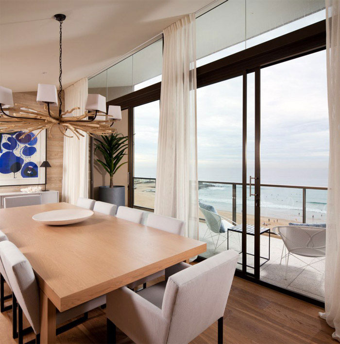 luxurious penthouse dining room