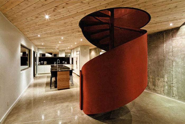residence metal spiral staircase