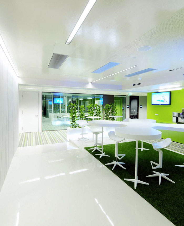 working environment green decor