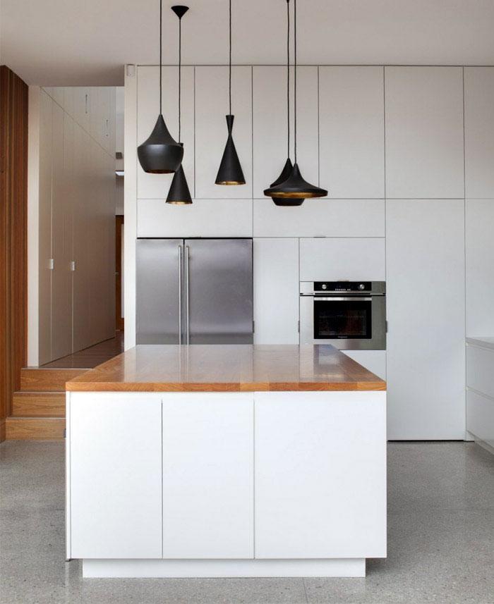 contemporary family home kitchen interior