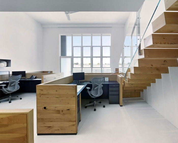 office space interior stairs