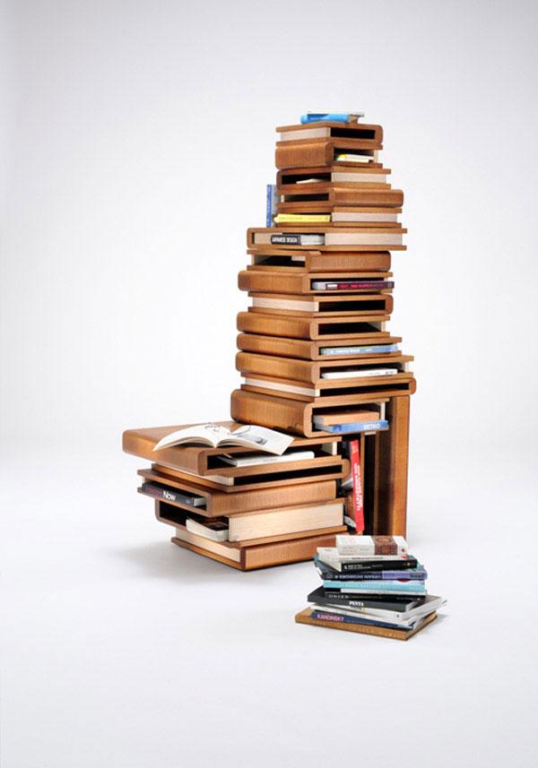 old books shelf