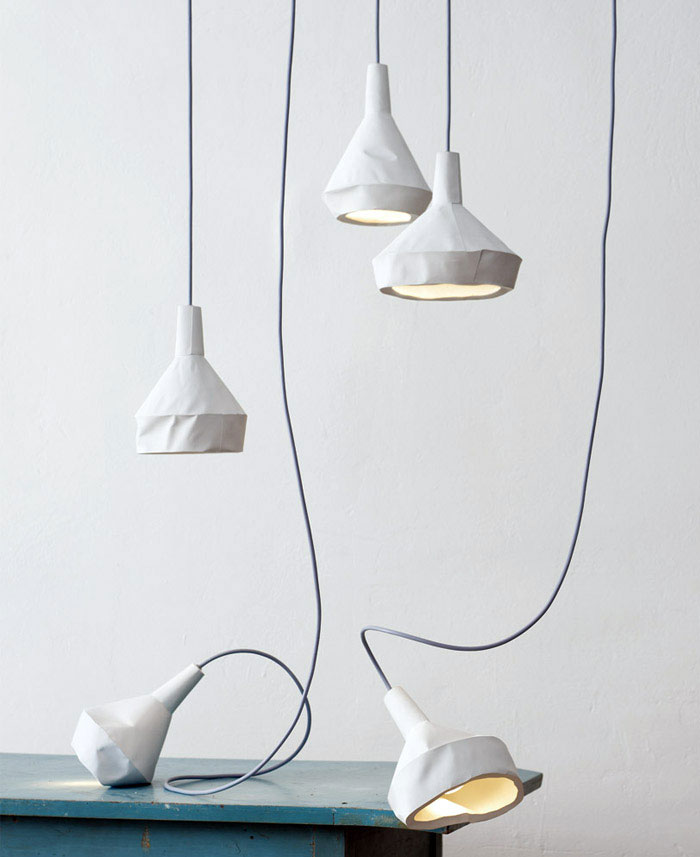 slewed concrete lamp