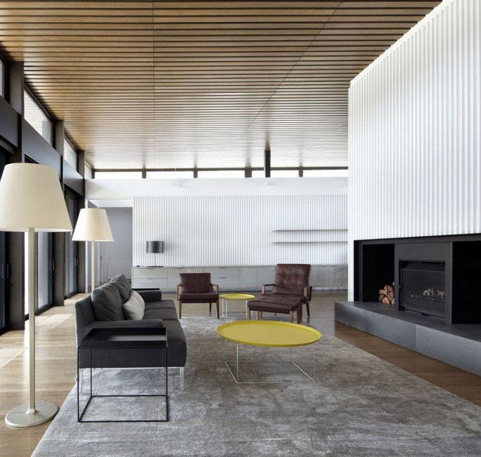 stylish beach house interior