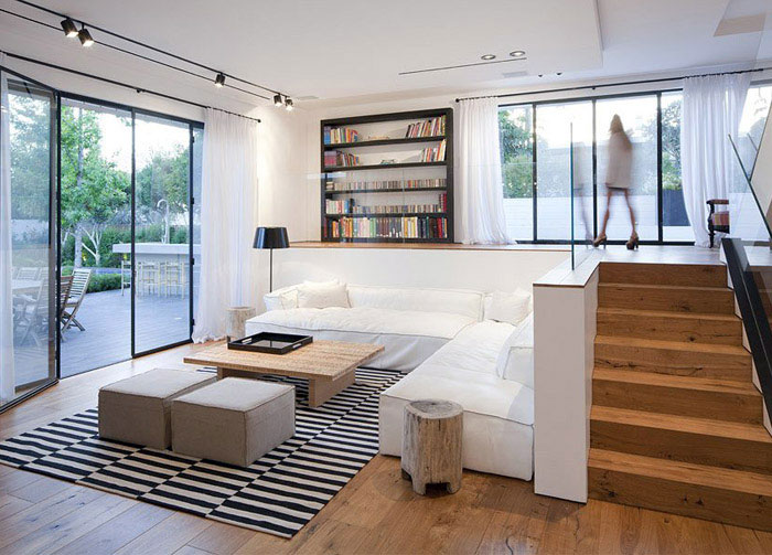 elegant modern living area house
