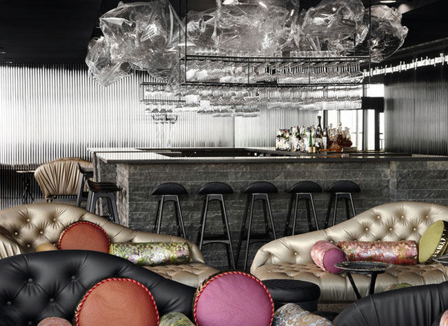 restaurant interior decor colour sofa