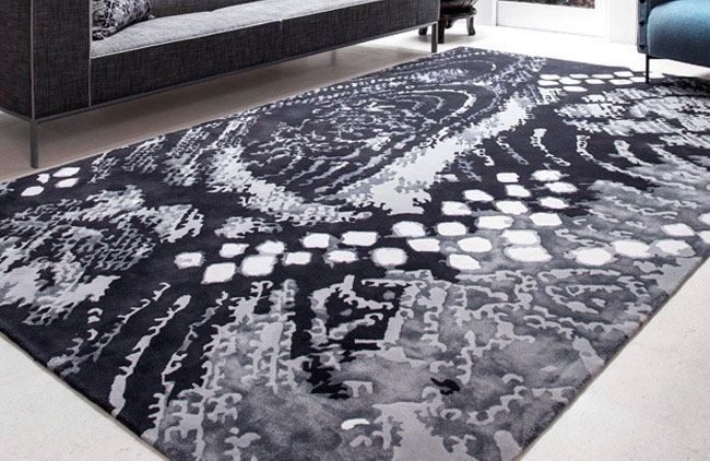 shibori rug design
