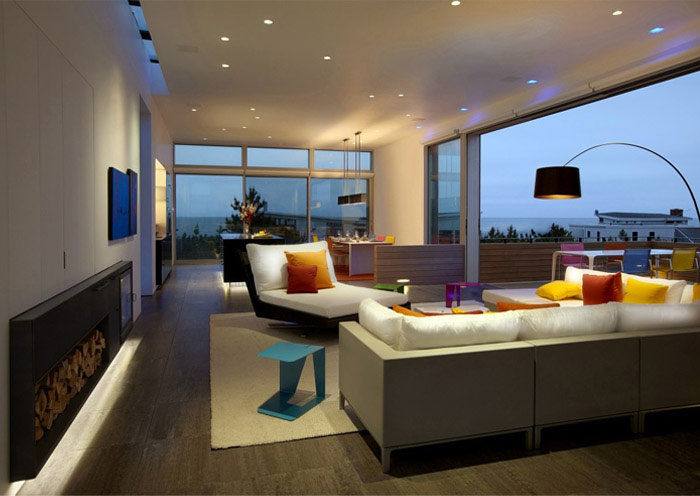 beach walk house interior living room