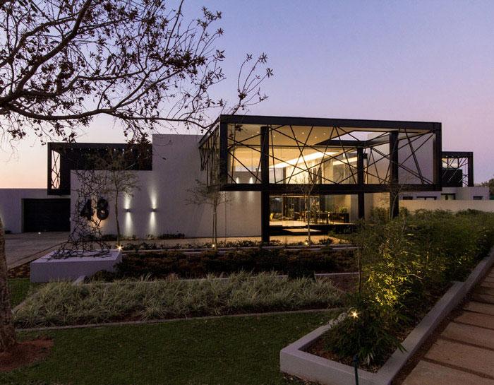 open plan house
