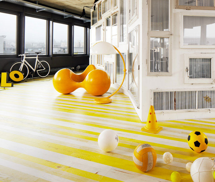 white yellow parquet