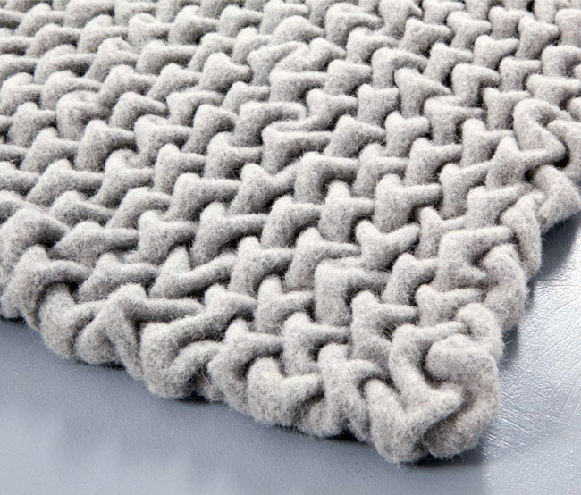 wooly material textile