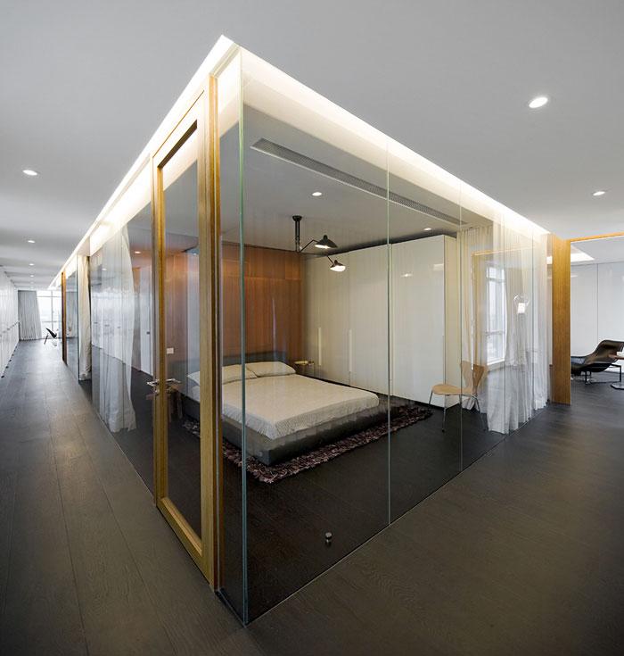 wu residence interior bedroom