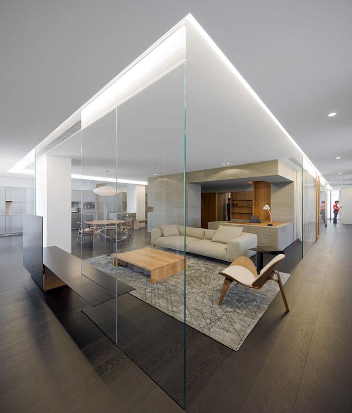 wu residence interior living room decor