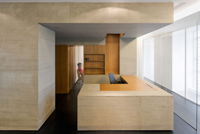 wu residence interior office